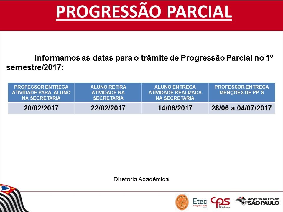 PROGRESSAO PARCIAL